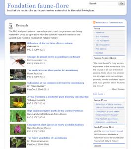 Site Internet de la Fondation faune-flore