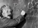 Einstein an der Tafel