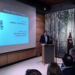 Alain Faber, directeur du Musée national d'histoire naturelle et président du jury présentant le Prix national du Patrimoine naturel