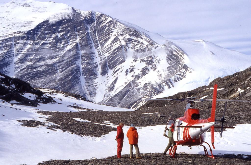 Faltung im sog. Ross-Orogen des Transantarktischen Gebirges: Oberkambrische Turbidite wurden vor ca. 500 Ma verfaltet.