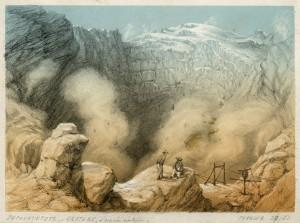 13 Im Krater des Popocatepetl 1851, d'après nature_Frantz Majerus_Privatsammlung M. Servais