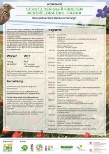 Einladung_Workshop Ackerflora und -Fauna_14 Juli 2017